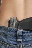 Парень джинсов пояса пистолета Стоковое Фото
