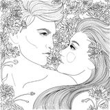 парень и девушка пар иллюстрация штока