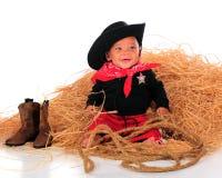 парень ковбоя младенца стоковое изображение rf