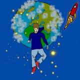 Парень космоса Стоковая Фотография RF