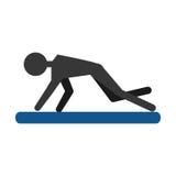 Парень силуэта работая пусковую площадку спорта фитнеса Стоковая Фотография RF