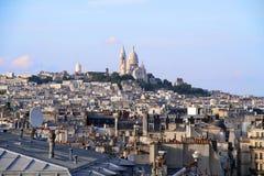 парижские крыши стоковое изображение