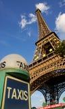 парижский таксомотор стоковая фотография rf