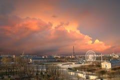 парижское skyscape Стоковые Фотографии RF
