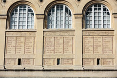 Париж - библиотека Sainte-Geneviève Стоковые Изображения RF