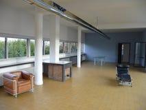 Париж - вилла Savoye (живущая комната с камином) Стоковые Изображения RF
