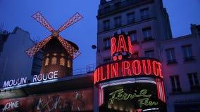 Париж, видео румян Moulin акции видеоматериалы