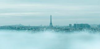 Париж в зиме стоковое фото rf