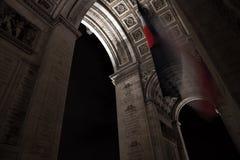 Париж дуга de триумф стоковые изображения rf