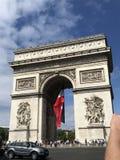 Париж Дуга du Triomphe стоковые изображения rf