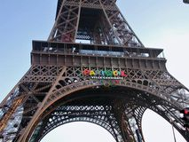 Париж - деталь Эйфелева башни Стоковое фото RF