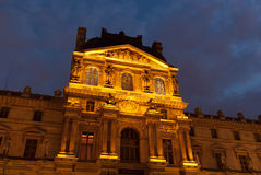 Париж, жалюзи, ноча Стоковое Фото