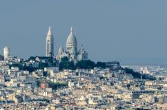 Париж и Sacré-Cœur Стоковое Фото