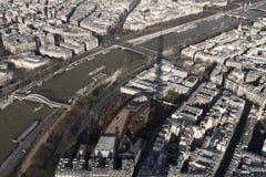 Париж и Sein от путешествия Eiffel Стоковое Изображение