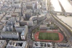 Париж и Sein от путешествия Eiffel Стоковая Фотография