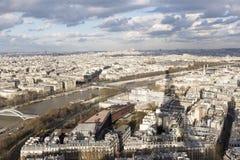 Париж и Sein от путешествия Eiffel Стоковые Изображения