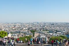 Париж как осмотрено от Montmartre стоковые изображения rf