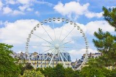 Париж, колесо Ferris. Стоковая Фотография
