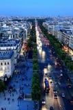 Париж к ноча Стоковые Изображения