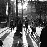 Париж на ем самый лучший, падение влюбленн в город Стоковые Фото
