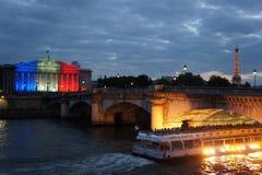 Париж на ноче Стоковая Фотография RF