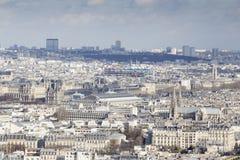 Париж от путешествия Eiffel Нотр-Дам Стоковое Фото