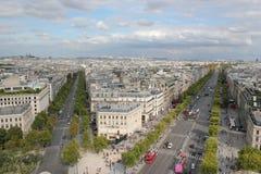 Париж от Триумфальной Арки Стоковое Изображение