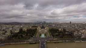 Париж от Эйфелеваа башни видеоматериал