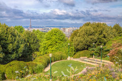 Париж от Belleville Стоковые Фото