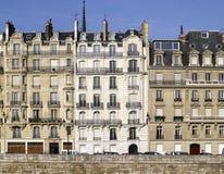 Париж: очень славный фасад la de ile цитирует Стоковая Фотография RF