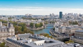 Париж, панорама стоковое фото