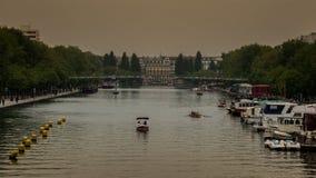 Париж, Река Сена Стоковое Изображение