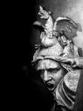 Париж - скульптура дуги триумфа (черно-белая) Стоковое фото RF