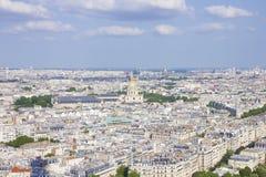 Париж: Смотреть вниз от на максимума Стоковые Изображения