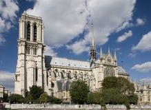 Париж, собор Нотре Даме Стоковое Фото