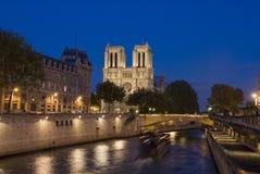 Париж, собор Нотре Даме Стоковое Изображение