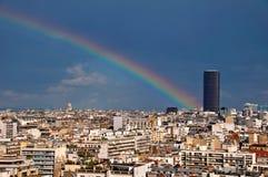Париж с башней Montparnasse Стоковое фото RF