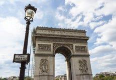 Париж, Триумфальная Арка стоковые изображения