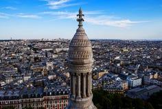 Париж увиденный от церков Базилики de Sacre Coeur Стоковые Изображения RF