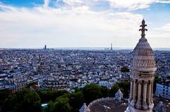 Париж увиденный от церков Базилики de Sacre Coeur Стоковое Фото