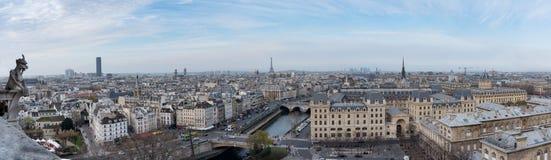 Париж увиденный от Нотр-Дам Стоковые Изображения RF
