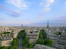 Париж увиденный от Триумфальной Арки Стоковое Фото
