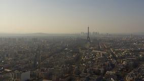 ПАРИЖ ФРАНЦИЯ, взгляд горизонта Парижа с Эйфелевой башней Стоковое Изображение RF