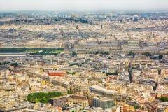 ПАРИЖ, ФРАНЦИЯ, вид с воздуха панорамы от башни Montparnasse Стоковое Фото
