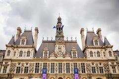 Париж, Франция - 24 04 2019: Гостиниц-de-Ville или городская ратуша в Париже - здании расквартировывая город администрации Парижа стоковое изображение