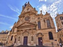 ПАРИЖ, ФРАНЦИЯ - 8-ОЕ ИЮЛЯ 2016: Свят-Etienne-du-Mont churc Стоковая Фотография RF