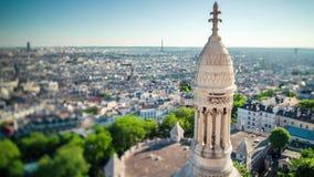 ПАРИЖ, ФРАНЦИЯ - 19-ОЕ ИЮНЯ 2018: Timelapse города сверху Быстрое движение видеоматериал