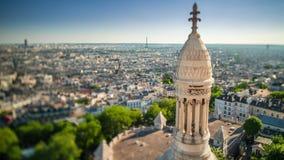 ПАРИЖ, ФРАНЦИЯ - 19-ОЕ ИЮНЯ 2018: Timelapse города сверху Быстрое движение акции видеоматериалы