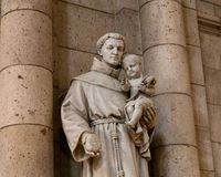 Париж, Франция, 26-ое марта 2017: Интерьер римско-католической церков и небольшой базилики Sacre-Coeur Стоковые Фото