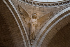 Париж, Франция, 26-ое марта 2017: Интерьер римско-католической церков и небольшой базилики Sacre-Coeur Стоковые Изображения
